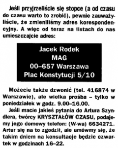 Kontakt do Artura Szyndlera
