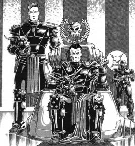 Chairman Prosek, rządzący Coalition States, tworem państwowym broniącym amerykańskiego stylu życia przed obcymi, mutantami, psionikami i innym tatałjstwem.