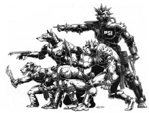 Coalition Dog Pack i zarządzający nimi Psychowampir (brzmi lepiej niż oryginalny Psi-Stalker).