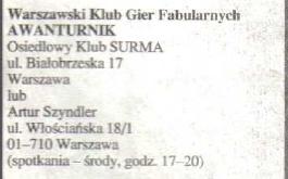 """Informacja o klubie """"Surma"""" w 5 MiMie"""