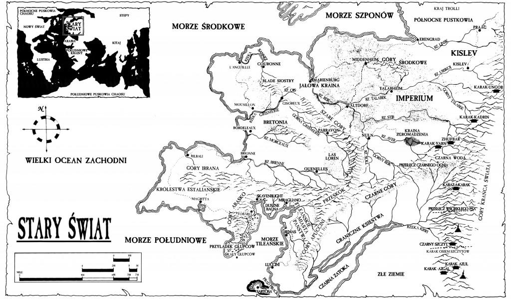 Oryginalny świat fantasy, nie mający nic wspólnego z żadnym istniejącym kontynentem.